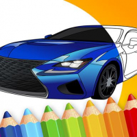 draw Car - Japanese Luxury Cars Coloring Book