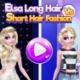 Elsa Long Hair Vs Short Hair Fashion