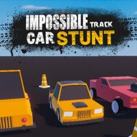 Impossible track car stunt