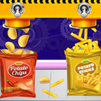 Potato Chips Factory Games For Kids