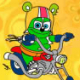 Colorir Gummy Bear Motociclista