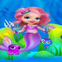 Cute Mermaid Girl Dress Up