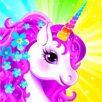 Unicorn Dress Up like Princess